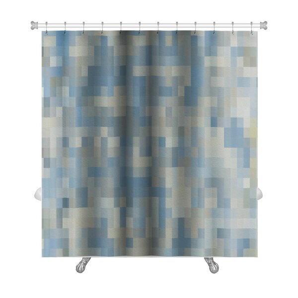 Primo Abstract Square Mosaic Oil Painted Premium Shower Curtain by Gear New