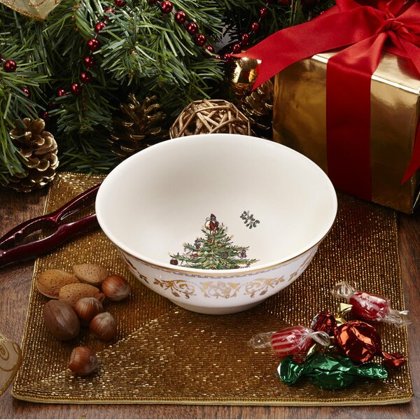 Christmas Tree Gold Bowl by Spode