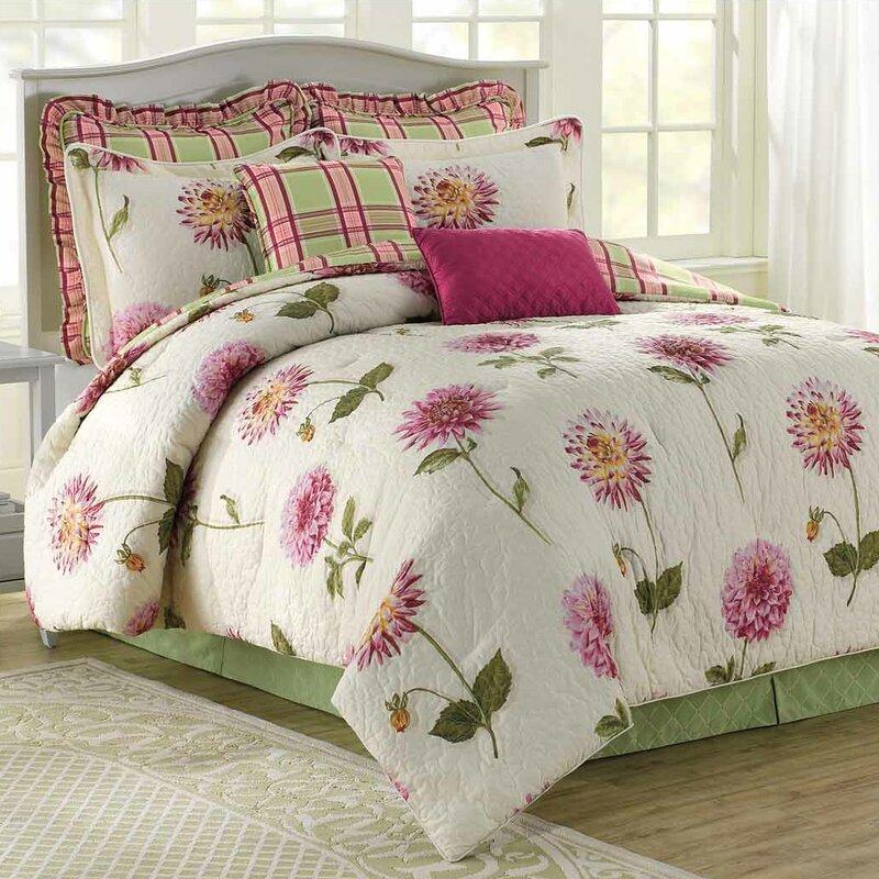 Dahlia 8 Piece Reversible Comforter Set