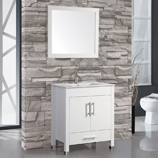 Prahl Modern 30 Single Sink Bathroom Vanity Set with Mirror by Orren Ellis