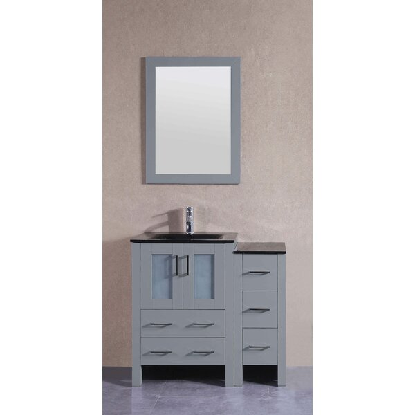 36 Single Bathroom Vanity Set with Mirror by Bosconi