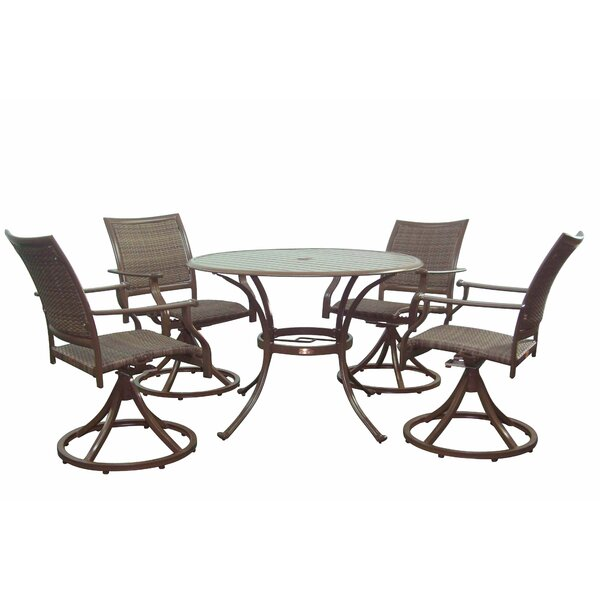 Island Cove 5 Piece Dining Set by Panama Jack Outdoor