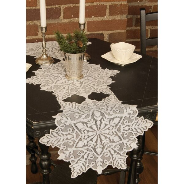 Silver Snowflake Table Runner by The Holiday Aisle