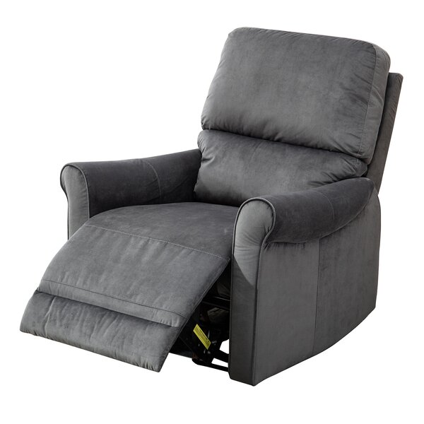 Meeks Modern Roll Arm Glider Manual Recliner by Ebern Designs