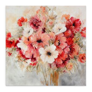 Garden's Passion I by Carol Robinson Painting Print on Wrapped Canvas by Wexford Home