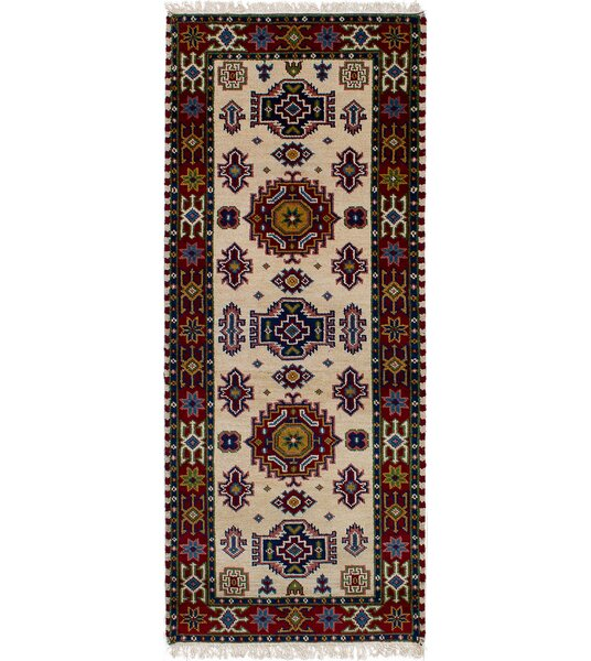 One-of-a-Kind Doering Hand-Knotted Wool Cream Area Rug by Isabelline