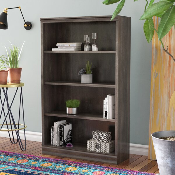 Caines 4-Shelf Standard Bookcase by Andover Mills