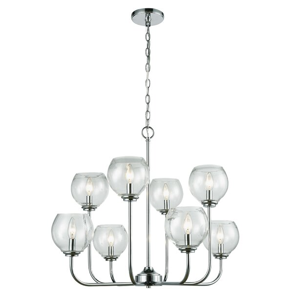 Debolt 8 - Light Shaded Tiered Chandelier by Charlton Home Charlton Home