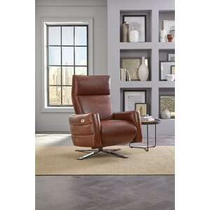 Sofia Leather Power Swivel Recliner by Natuzzi Editions