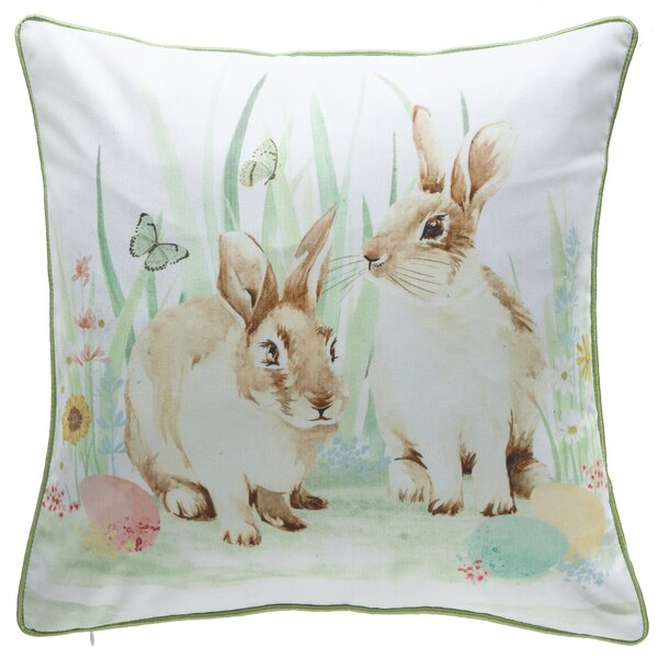 Easter Bunny Throw Pillow by 14 Karat Home Inc.