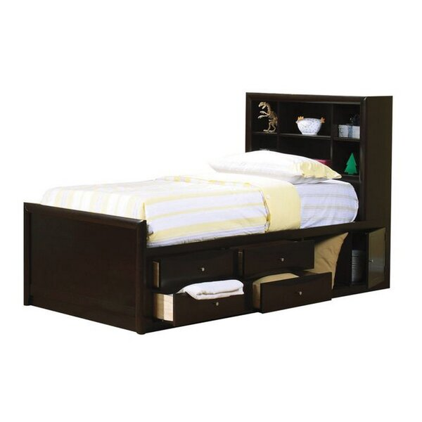 Sullivan Storage Mates Bed with Bookcase and Drawers by Harriet Bee