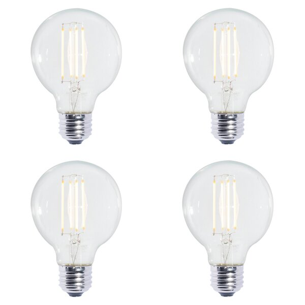 7W E26 Dimmable LED Globe Light Bulb (Set of 4) by Bulbrite Industries