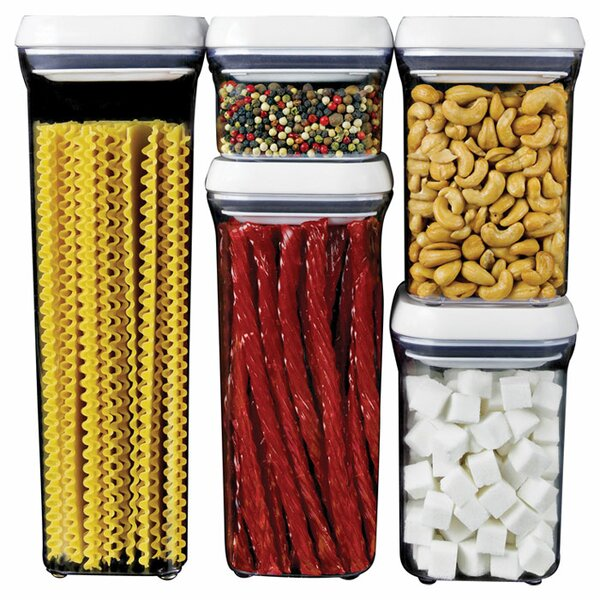 Good Grips Pop 5 Container Food Storage Set By Oxo.