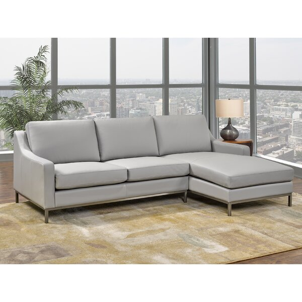 Bland Leather Sectional by Rosdorf Park