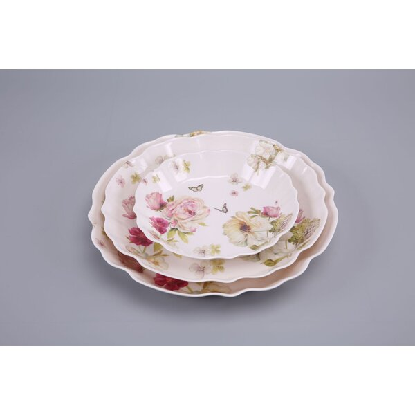 Kenwood Shallow Serving 3 Piece Melamine Platter Set by Ophelia & Co.