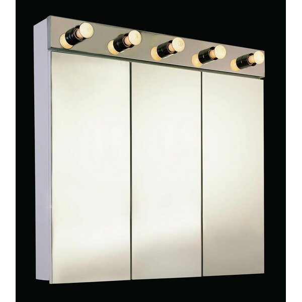 Garett 30 x 34 Surface Mount Frameless Medicine Cabinet and Lighting by Orren Ellis