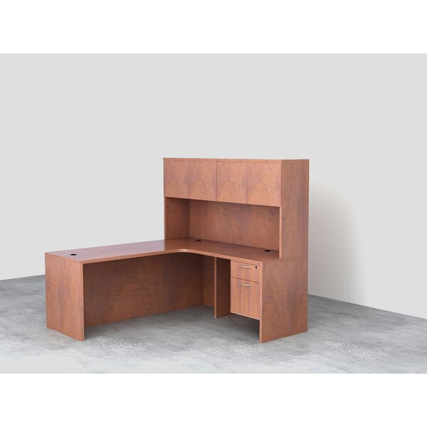 L-Shaped Executive Desk with Hutch