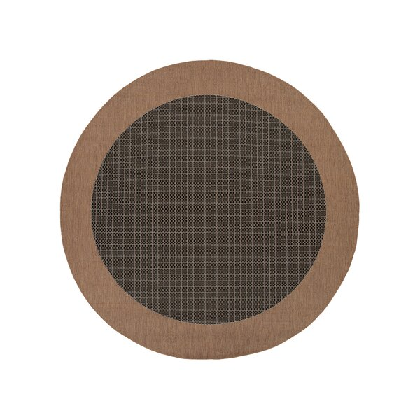 Ariadne Checkered Field Black/Cocoa Indoor/Outdoor Area Rug by Charlton Home
