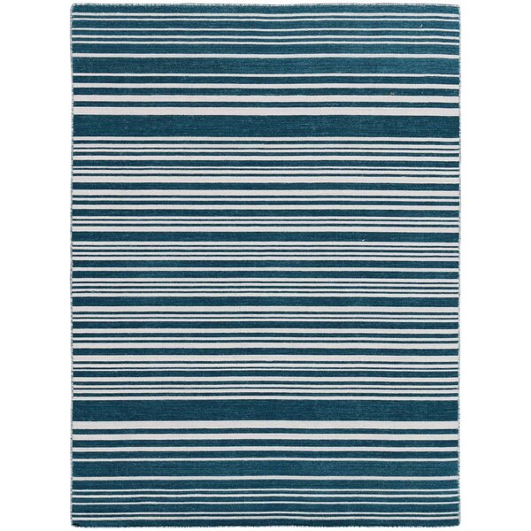 Cavanaugh Flat-Weave Blue Area Rug by Highland Dunes