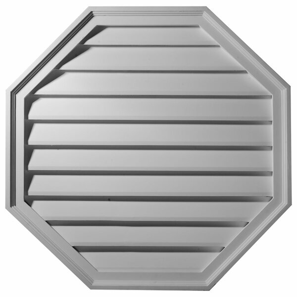 18H x 18W x 2 1/8D Octagon Gable Vent Louver by Ekena Millwork