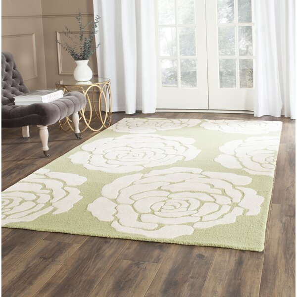 Martins Lime/Ivory Area Rug by Wrought Studio