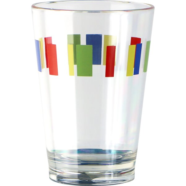 Livingware Country Cottage 8 Oz. Acrylic Drinkware with Memphis Design (Set of 6) by Corelle