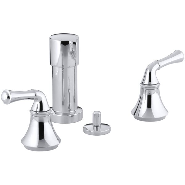Forté Vertical Spray Bidet Faucet with Traditional Lever Handles by Kohler