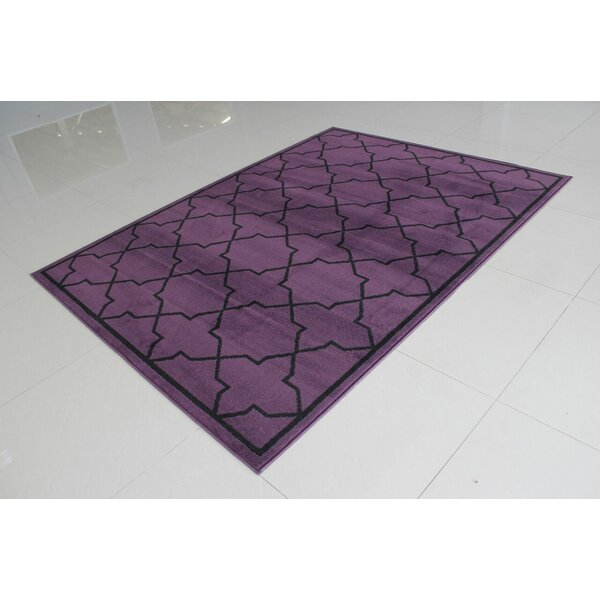 Rattew Purple Area Rug by Ebern Designs