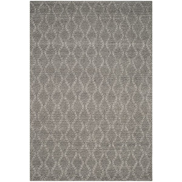 Sinope Hand-Tufted Gray Area Rug by Brayden Studio
