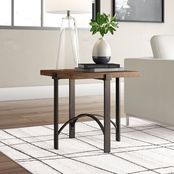 Baratta Distressed End Table By Ivy Bronx Read Reviews
