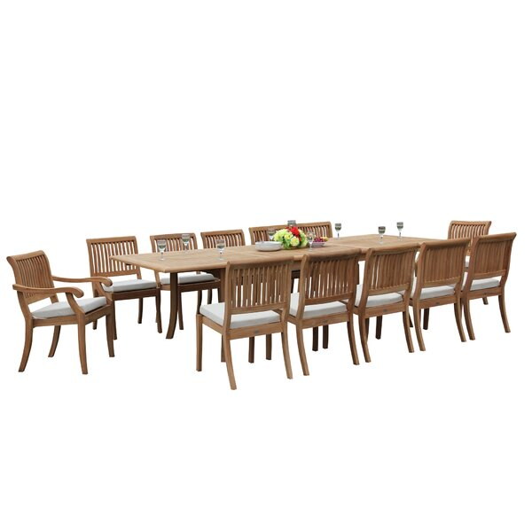 Masten 13 Piece Teak Dining Set by Rosecliff Heights