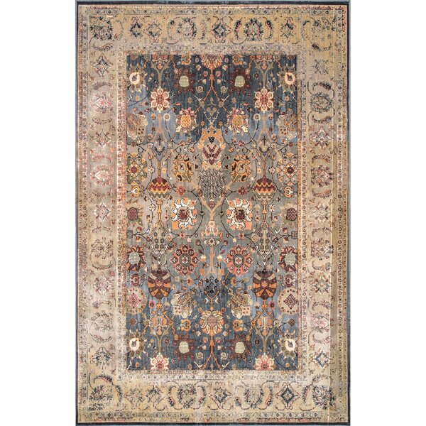 Alamo Blue/Beige Area Rug by Bungalow Rose