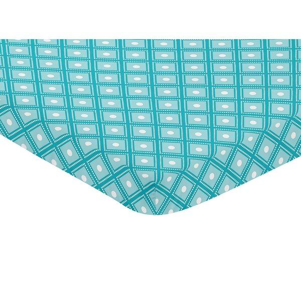 Mod Elephant Mini Fitted Crib Sheet by Sweet Jojo Designs