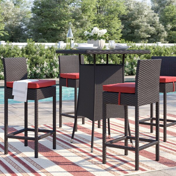 Brentwood Patio Dining Chair with Cushion (Set of 4) by Sol 72 Outdoor