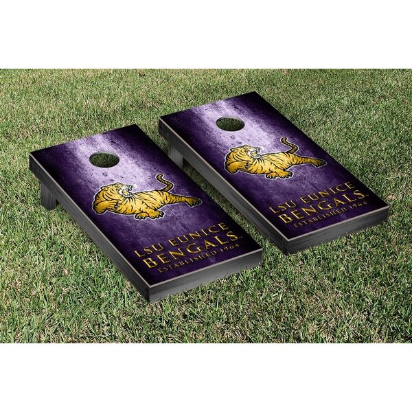 LSU Eunice Bengals Metal Version Cornhole Game Set by Victory Tailgate