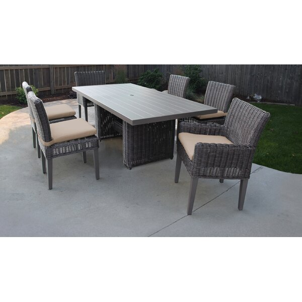 Fairfield 7 Piece Outdoor Patio Dining Set with Cushion by Sol 72 Outdoor
