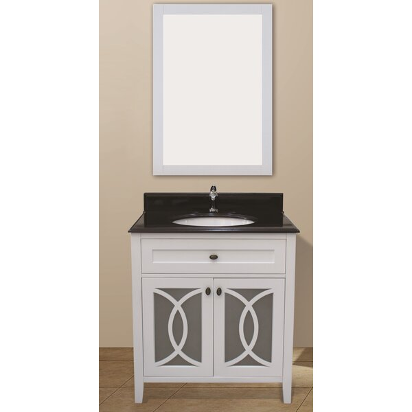 Margaret Garden 37 Single Bathroom Vanity Set with Mirror by NGY Stone & Cabinet
