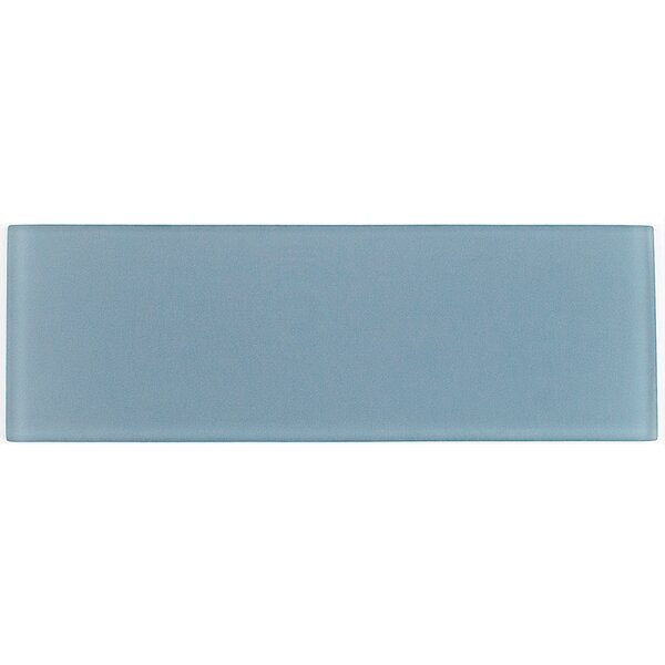 Contempo 4 x 12 Glass Subway Tile in Blue by Splashback Tile