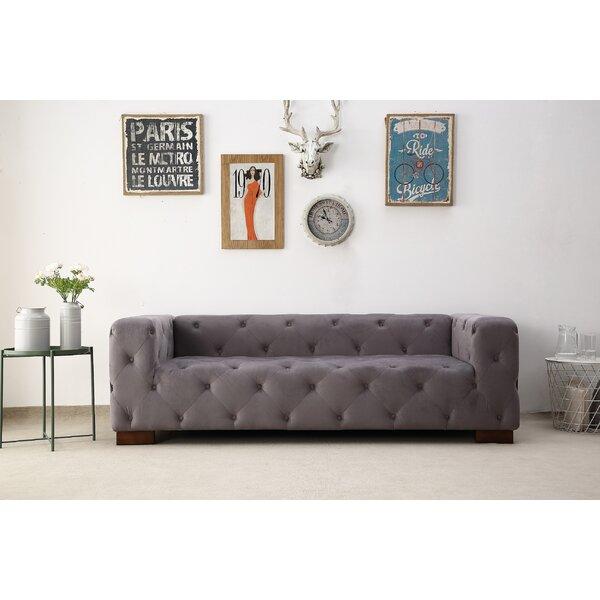 Ossett Tufted Elegant Chesterfield Sofa by Mercer41