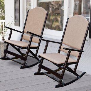 Superb Wood Folding Rocking Chair | Wayfair