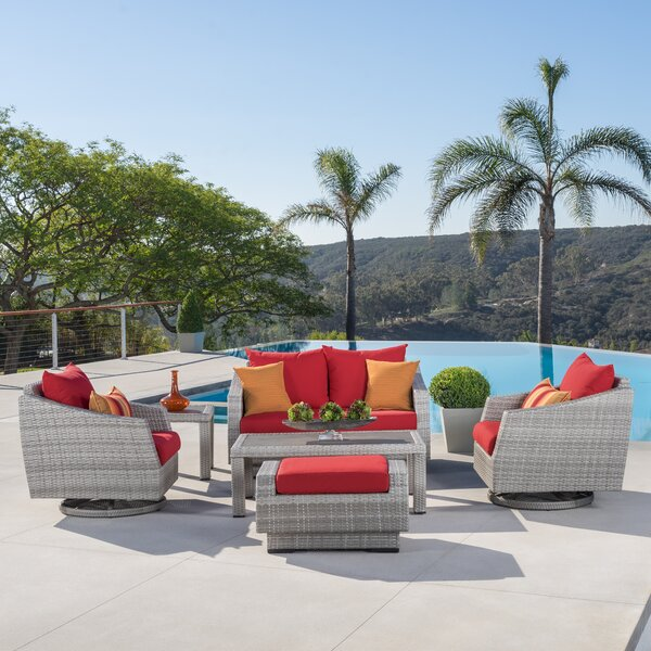 Castelli 6 Piece Sofa Seating Groupc with Sunbrella Cushions by Wade Logan