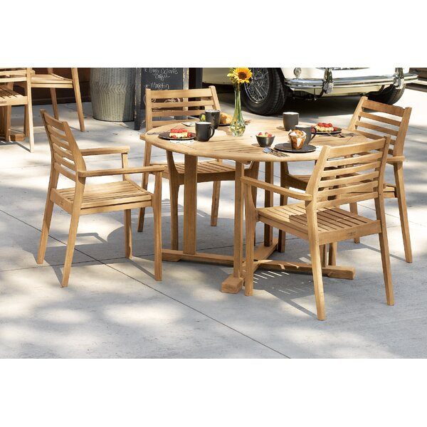 Huggins 5 Piece Dining Bistro Set by Highland Dunes