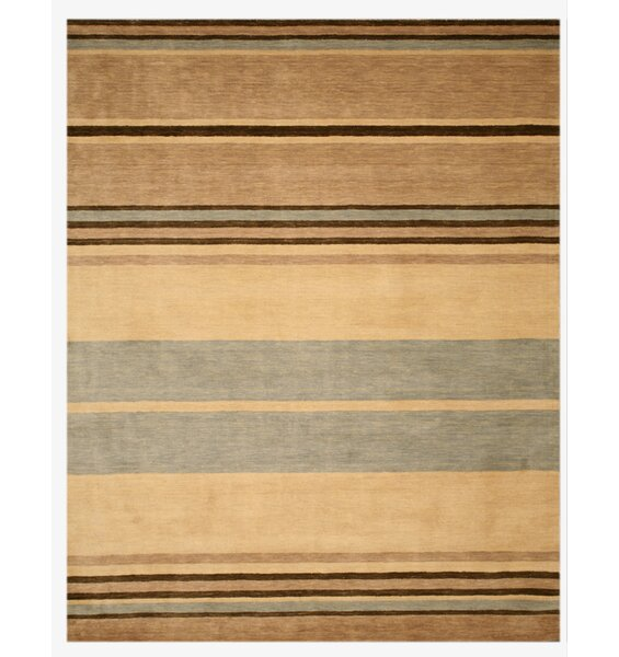 Luper Hand-Tufted Brown Area Rug by The Conestoga Trading Co.