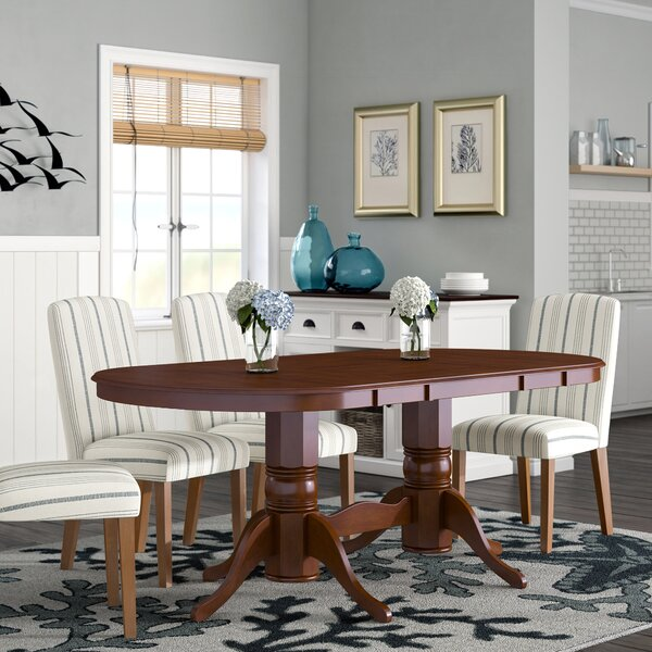 Varela Oval Solid Wood Dining Table by Breakwater Bay