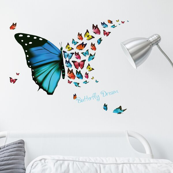 Butterfly Dream Wall Decal by Zoomie Kids