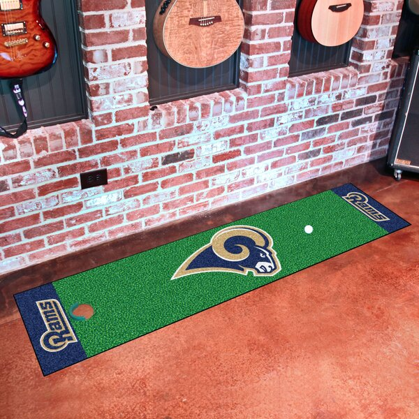 NFL Los Angeles Rams Putting Green Mat by FANMATS