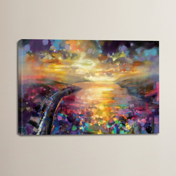 Brayden Studio Particles By Scott Naismith Painting Print On Wrapped Canvas Wayfair