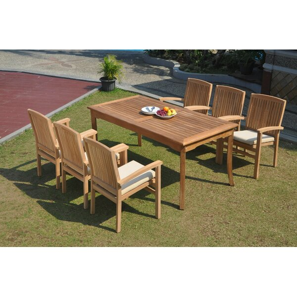 Alicia 7 Piece Teak Dining Set by Rosecliff Heights