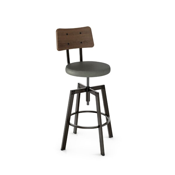 Lorri Adjustable Height Swivel Bar Stool by Union Rustic