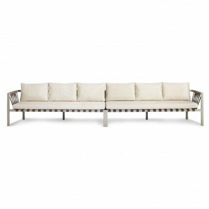 Jibe Outdoor Extra Long Sofa with Cushions by Blu Dot